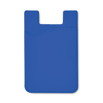 SILICON CARDHOLDER FOR PHONE with 3m Tape in Royal Blue.