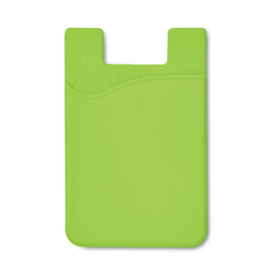 SILICON CARDHOLDER FOR PHONE with 3m Tape in Lime.