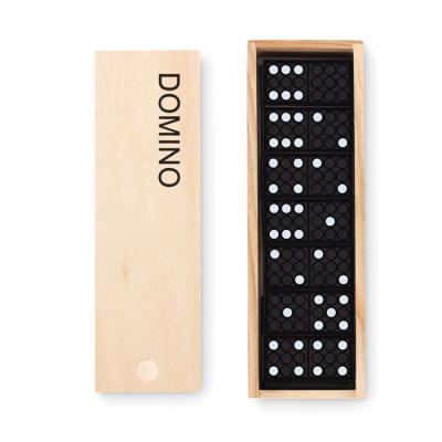 28 PIECES DOMINO SET in Wood Box.