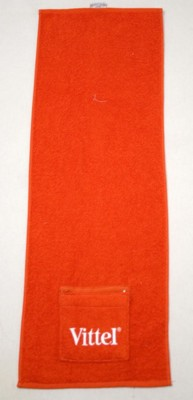SPORTS GYM FITNESS TOWEL, EMBROIDERED, with Pocket.