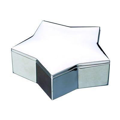 STAR METAL TRINKET BOX in Silver.
