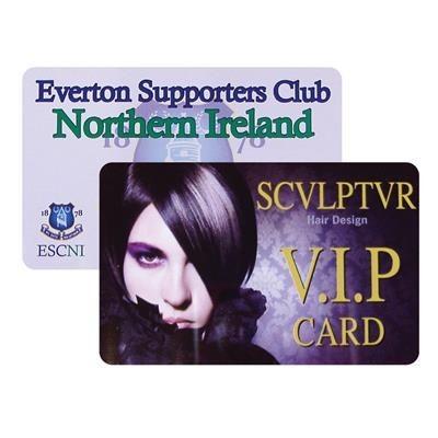 PRINTED PLASTIC CARD.