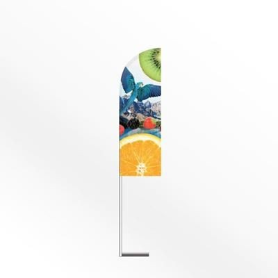 LARGE FEATHER FLAG BANNER with Car Base.