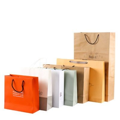 170GSM RE-USABLE THICK KRAFT PAPER CARRIER BAG with Rope Handles.