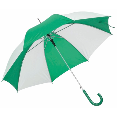AUTO STICK UMBRELLA in Green & White.