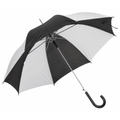 AUTO STICK UMBRELLA in Black & White.
