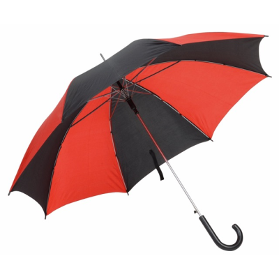 AUTO STICK UMBRELLA in Red & Black.