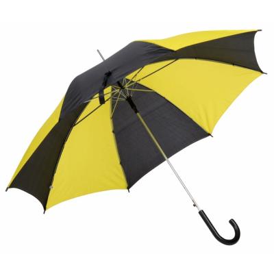 AUTO STICK UMBRELLA in Yellow & Black.