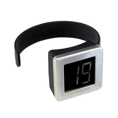 DIGITAL BOTTLE THERMOMETER in Silver.