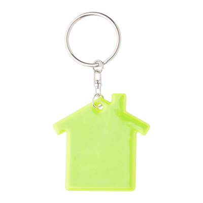 ABRAX REFLECTIVE VISIBILITY KEYRING in House Shape.