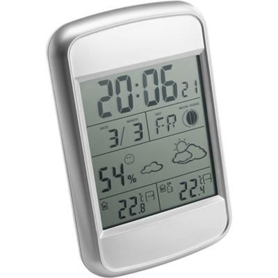 DIGITAL WEATHER STATION in Silver.