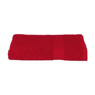 SOLAINE PROMO HAND TOWEL (360 G & M²) in Red.