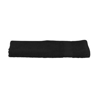 SOLAINE DELUXE GUEST TOWEL 450 G & M² in Black.