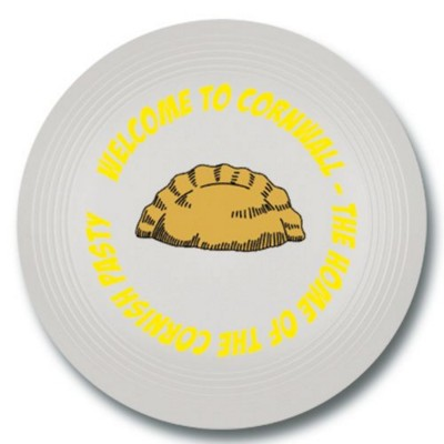 LARGE RECYCLED PLASTIC FRISBEE in White.