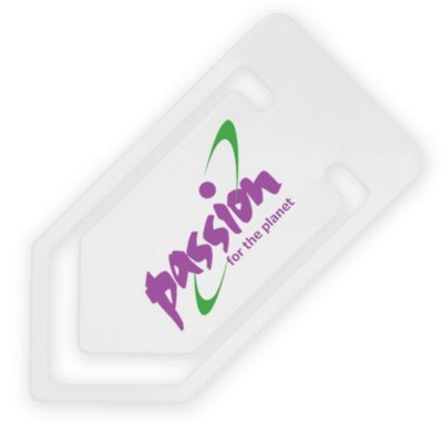 LARGE RECYCLED PAPERCLIP in White.