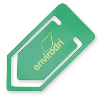 LARGE RECYCLED PAPERCLIP in Green.