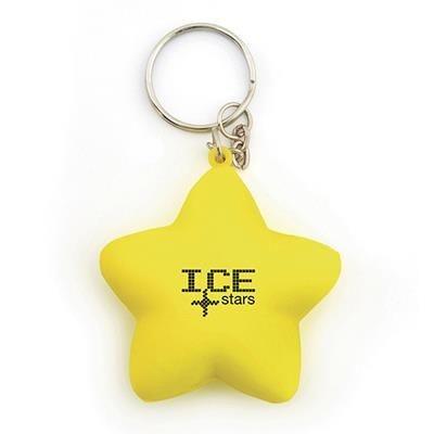 STAR STRESS KEYRING in Yellow.
