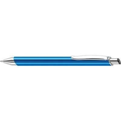 STRATUS ALUMINIUM METAL BALL PEN in Blue & Silver.