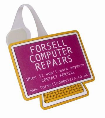 COMPUTER SHAPE MESSAGE DISPLAY SHELF WOBBLER with Full Colour Print.
