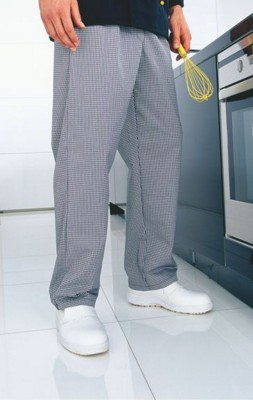 PREMIER PULL ON CHEF CHECK TROUSERS.