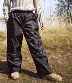 RESULT CHILDRENS WATERPROOF 2000 PRO-COACH TROUSERS.