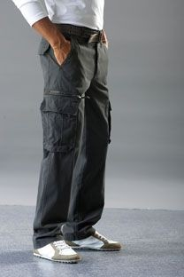 KARIBAN SPASO HEAVY CANVAS CARGO TROUSERS.