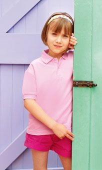 FRUIT OF THE LOOM CHILDRENS PIQUE POLO SHIRT.