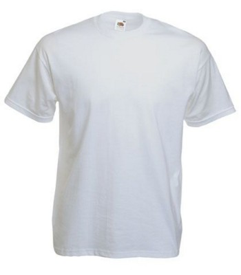 FRUIT OF THE LOOM VALUE TEE SHIRT in White.