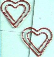 HEART SHAPE WIRE PAPERCLIP.