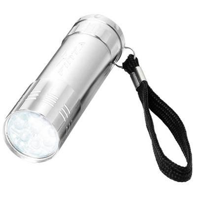 LEONIS 9-LED TORCH LIGHT in Silver.
