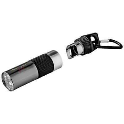 OMEGA 6-LED TORCH LIGHT AND BOTTLE OPENER in Gun Metal.