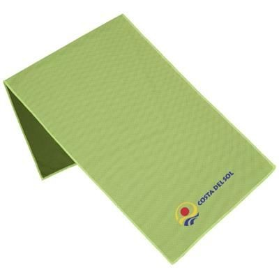ALPHA FITNESS TOWEL in Lime.