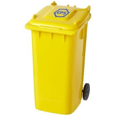 WHEELIE BIN PEN HOLDER in Yellow.