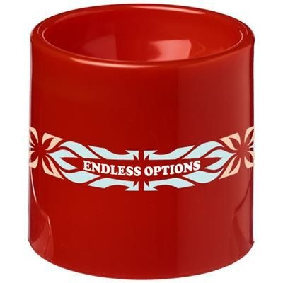 EDIE PLASTIC EGG CUP in Red.