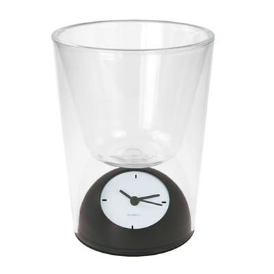 PEN HOLDER with Clock.