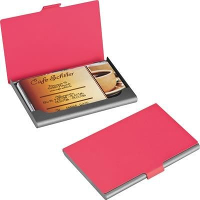 METAL BUSINESS CARD HOLDER in Red.