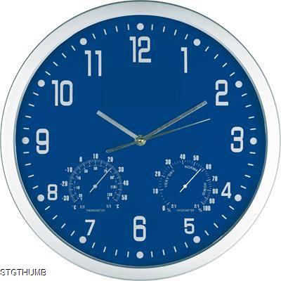 CRISMA STYLISH WALL CLOCK in Blue & Silver.