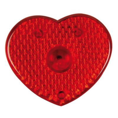 HEART SHAPE FLASHING REFLECTOR LIGHT in Red.