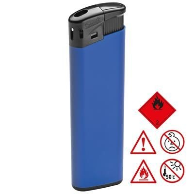 ELECTRONIC PLASTIC LIGHTER in Blue.