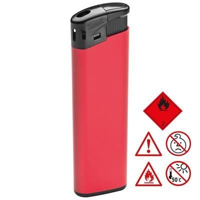 ELECTRONIC PLASTIC LIGHTER in Red.