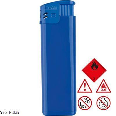 ELECTRONIC REFILLABLE POCKET LIGHTER in Blue.