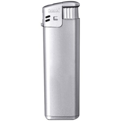 ELECTRONIC REFILLABLE POCKET LIGHTER in Grey.