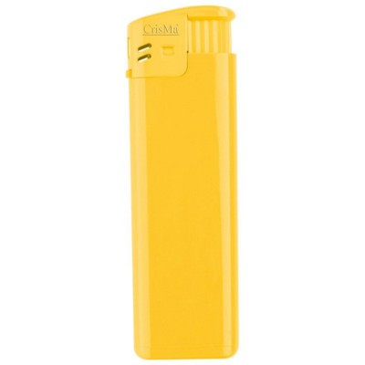 ELECTRONIC REFILLABLE POCKET LIGHTER in Yellow.