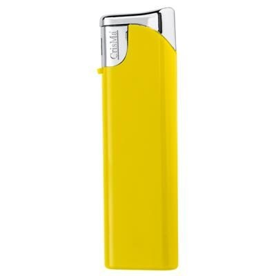 ELECTRONIC PLASTIC LIGHTER in Yellow.