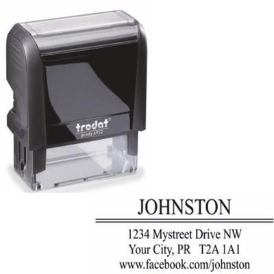 PRINTY 4912 SELF INKING STAMP.