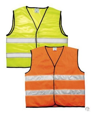 REFLECTIVE SAFETY TABARD VEST in Fluorescent Yellow.