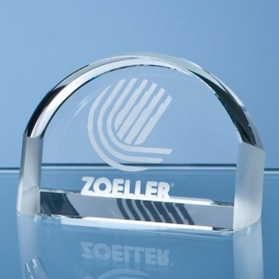 8CM OPTICAL CRYSTAL MAGNIFIER PAPERWEIGHT.