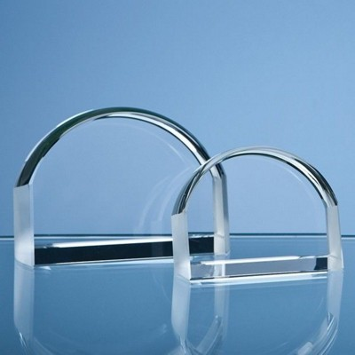 10CM OPTICAL CRYSTAL MAGNIFIER PAPERWEIGHT.