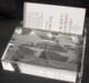 CRYSTAL BUSINESS CARD DESK HOLDER STAND with 3D Laser Engraved Image & Logo Set in Glass.