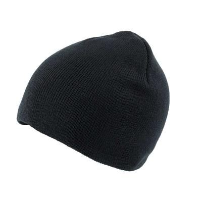 KNITTED SKI HAT WITHOUT TURN UP in Black.